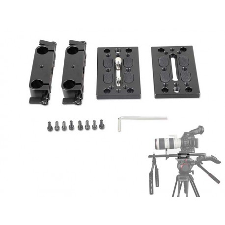 Baseplate with Dual Ø15mm Rod Clamp