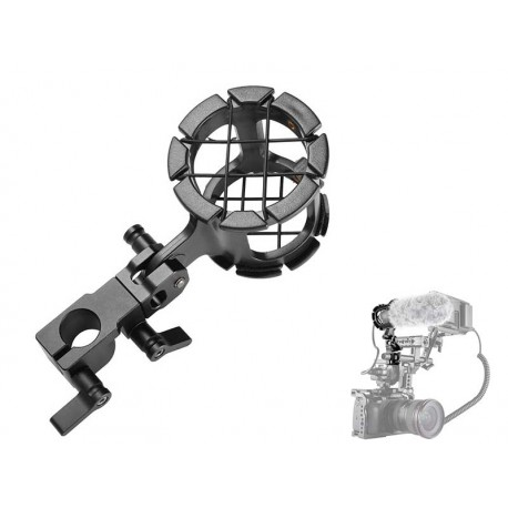 Microphone Support with Ø15mm Rod Clamp