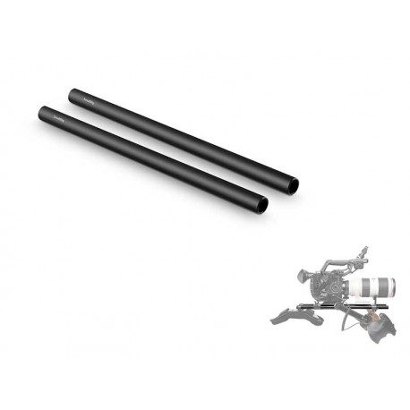 Ø15mm Black Aluminum Alloy Rod 12""