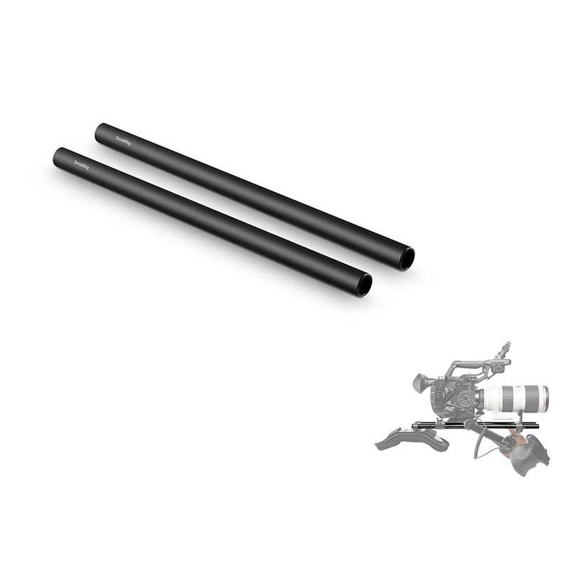 "15mm Black Aluminum Alloy Rod 12"""