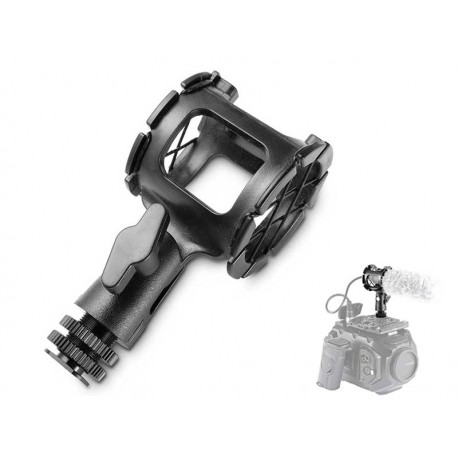 Microphone Shock Mount for Camera and Boompoles