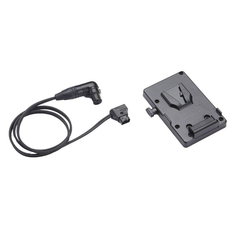 Anton Bauer V-Mount Battery bracket with P-Tap to 3-pin XLR