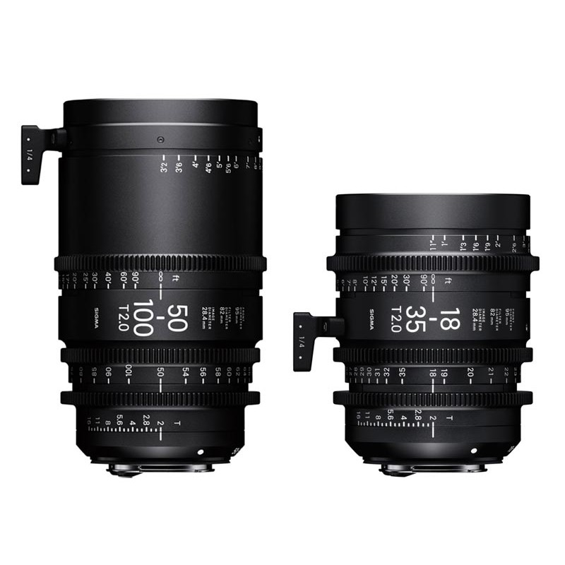 Kit 2 High Speed Zoom - 18-35, 50-100mm T2