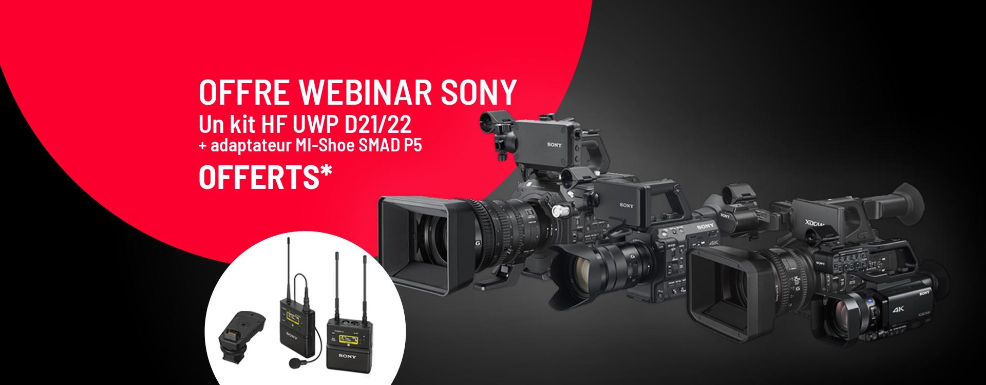 Offre Sony Pro - Webinar PXW Connecté