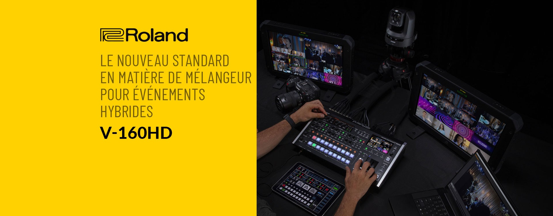 Roland présente le mélangeur de streaming V-160HD