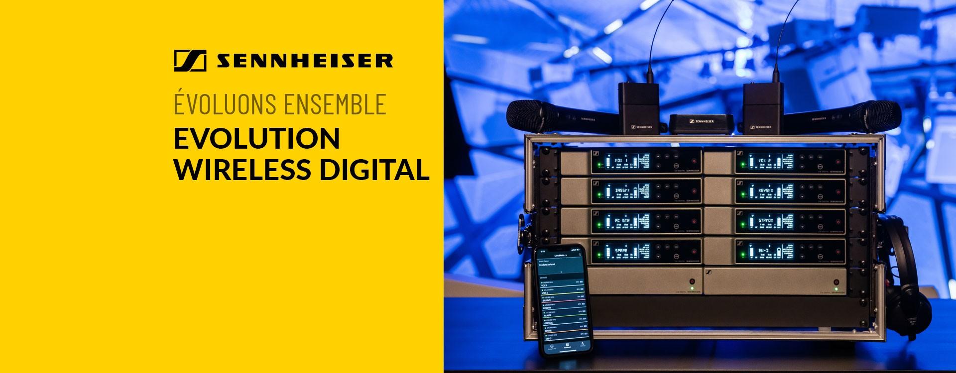 Sennheiser annonce sa solution audio sans fil Evolution Wireless Digital