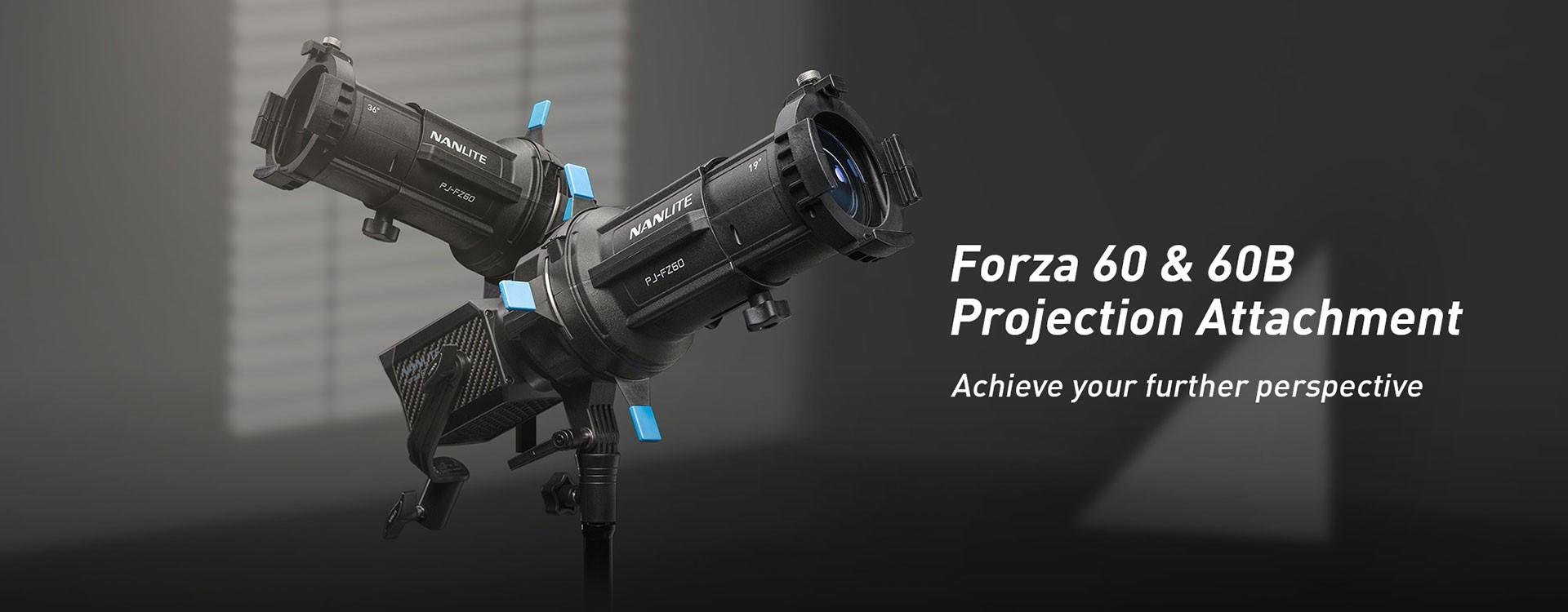 Nanlite booste l'impact créatif de ses Forza 60 et 60B avec l'ajout d'un tout nouvel accessoire de projection