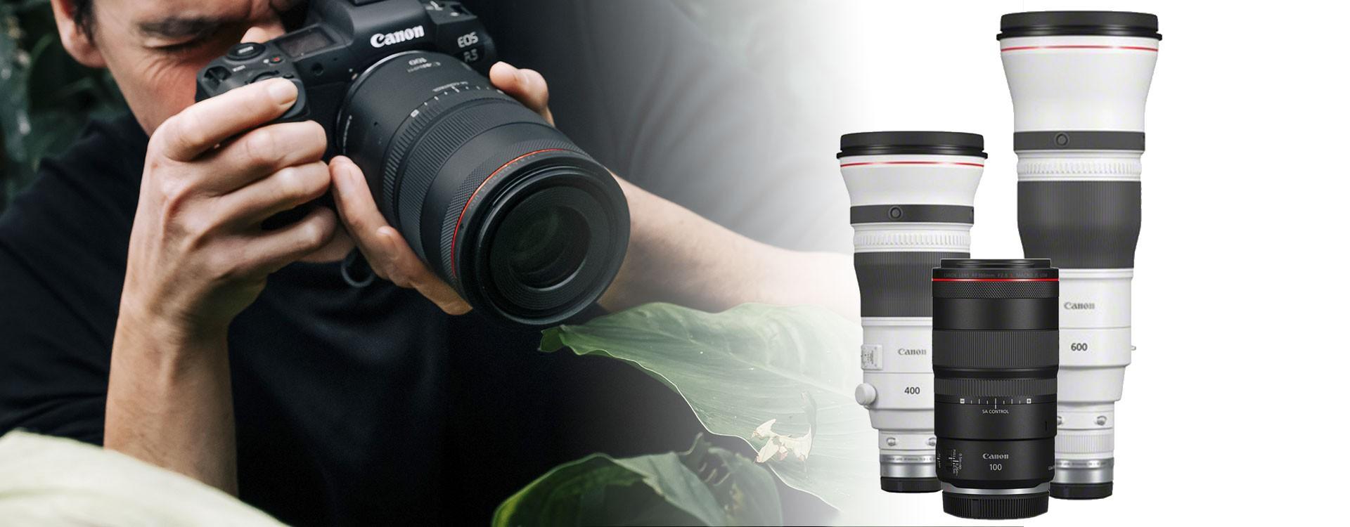 Canon dévoile trois nouveaux objectifs RF
