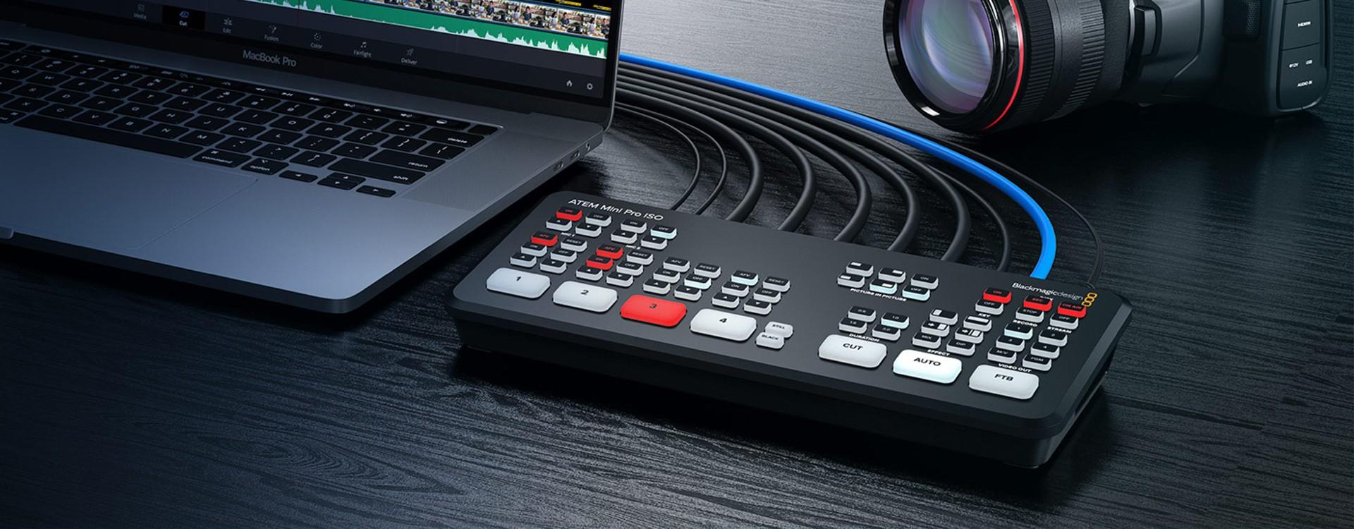 Blackmagic Design annonce le nouvel ATEM Mini Pro ISO