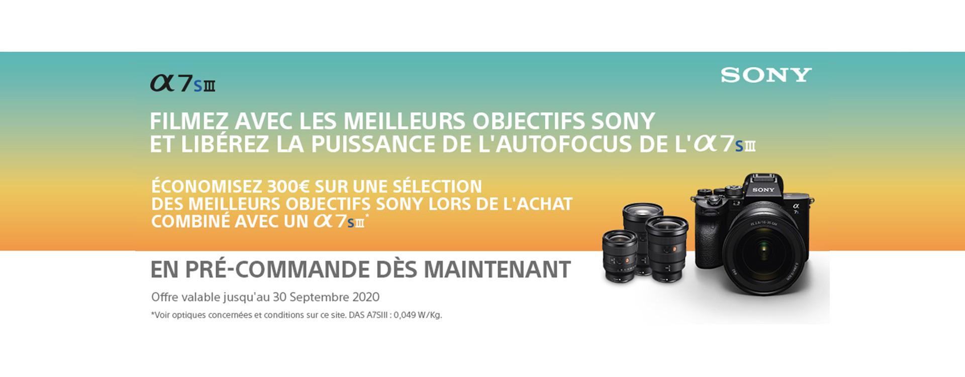 Offres de lancement Sony A7S III