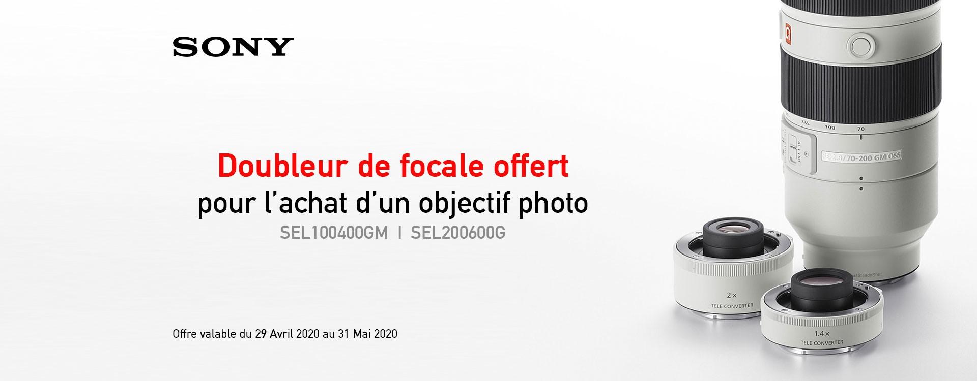 Offre - Doubleur de focale offert pour les objectifs photo télé*