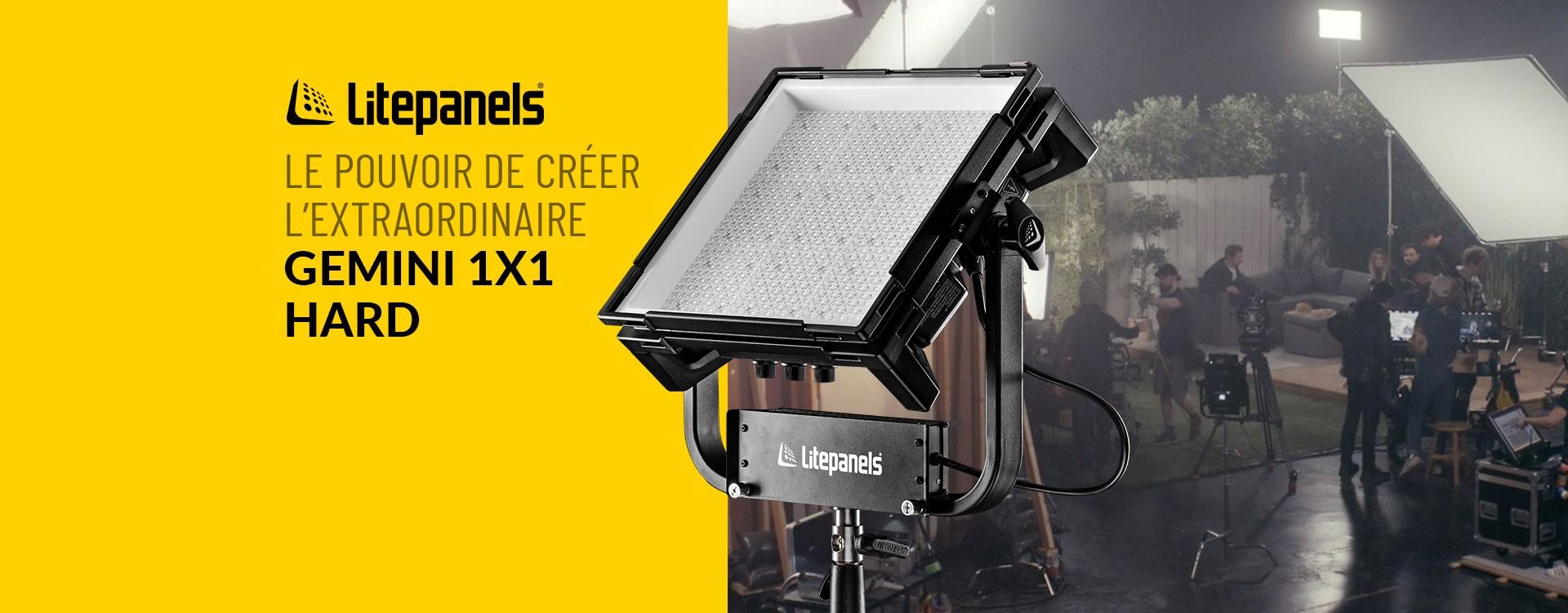 Litepanels lance un nouveau panneau LED RGBWW Hard Gemini 1x1