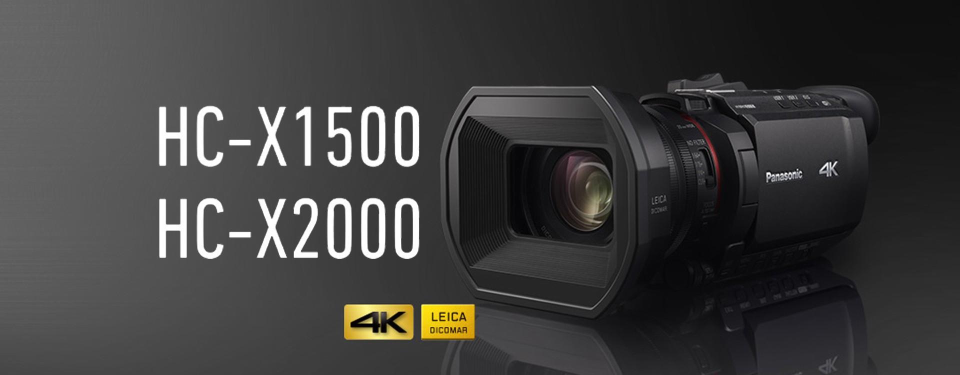 Nouveaux caméscopes 4K : Panasonic HC X1500 et 2000 disponible en Avril 2020