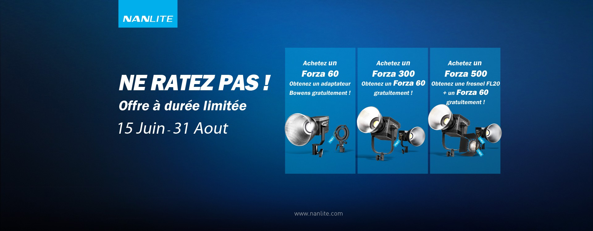 Offre Nanlite - Forza Deal